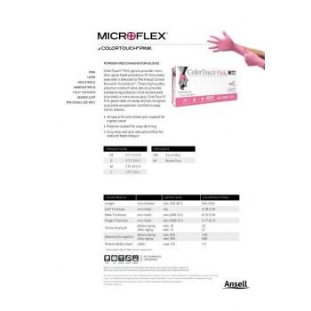 Перчатки розовые латексные без талька ColorTouch Pink (100 шт.)