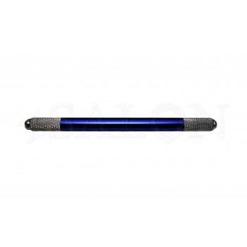 Ручка для микроблейдинга алюминиевая синяя двухсторонняя MB0415