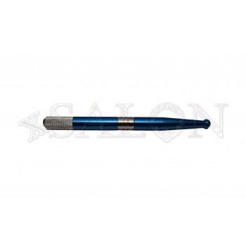 Ручка для микроблейдинга алюминиевая голубая MB0496