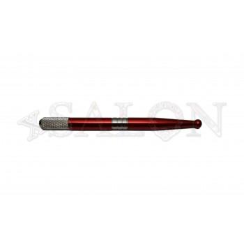 Ручка для микроблейдинга алюминиевая красная MB0498
