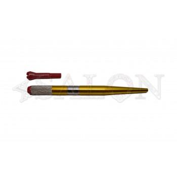 Ручка для микроблейдинга алюминиевая жёлтая с пластиковым зажимом MB0501