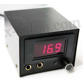Блок питания в чёрном стальном корпусе с электронным табло PS0020