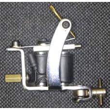 Тату машинка классическая универсальная, стальная, хромированная TMI0638(1)