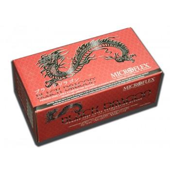 Перчатки чёрные латексные без талька Чёрный Дракон Black Dragon (100 шт.)
