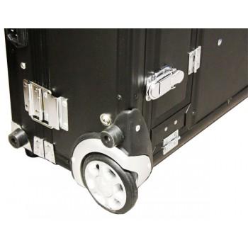 Раскладной стол-кейс на колёсах с зеркалом и осветителями