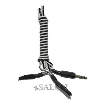 Клипкорд с чёрно-белым проводом Jack 6.3 - Clip Cord CC1083