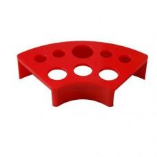 Подставка под колпачки пластиковая красная с 8-ю отверстиями