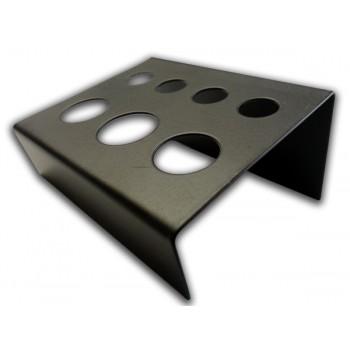 Подставка стальная чёрная с 7-ю отверстиями 9 и 14 мм