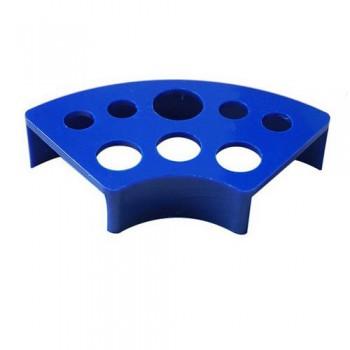Подставка под колпачки пластиковая синяя с 8-ю отверстиями