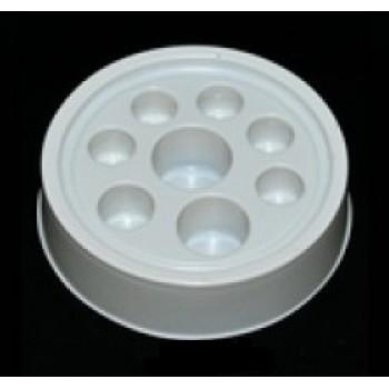 Круглая подставка под колпачки тонкий пластик (8 отверстий)