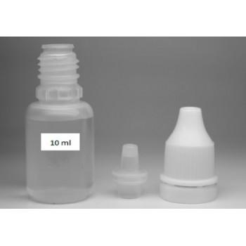 Флакон 10 ml полиэтиленовый с наконечником-лейкой и пломбой на крышке