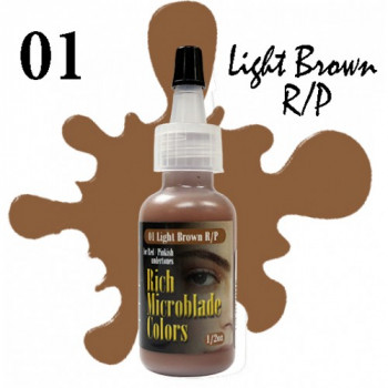 Rich Microblade Colors - 01 Light Brown R/P 1/2 Oz (15 мл)