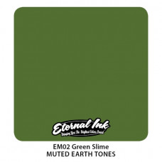 Green Slime Eternal Tattoo Ink Muted Earth Tones