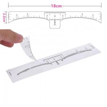 Линейка-наклейка для разметки формы бровей одноразовая